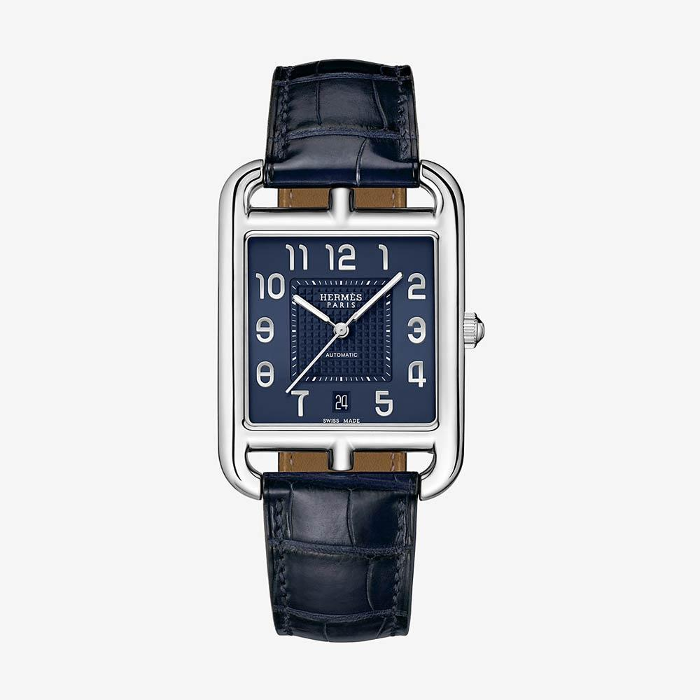 Hermès Cape Cod Watch Indigo Alligator Strap