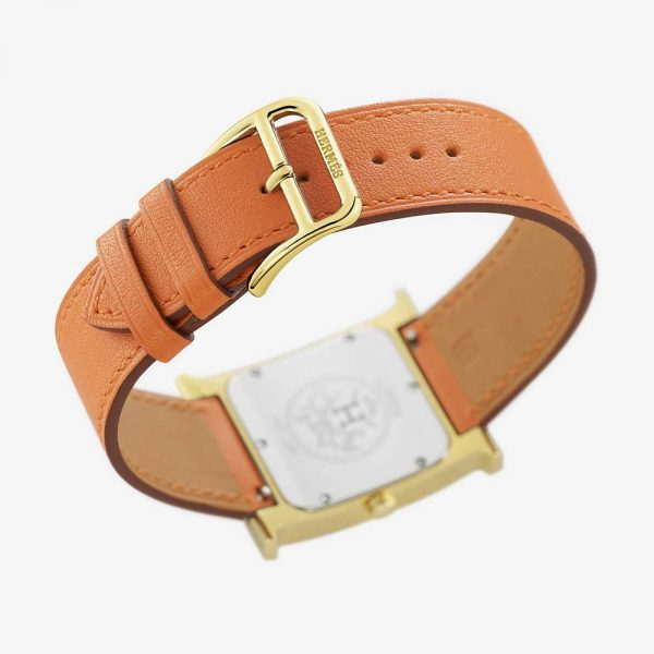 Hermès Heure H Watch 26mm Orange Strap