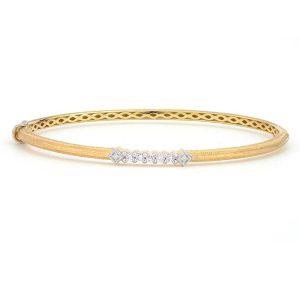 Jude Frances Lisse Simple Diamond Accent Delicate Bangle