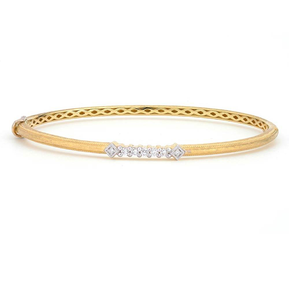 Jude Frances Lisse Simple Diamond Accent Delicate Bangle