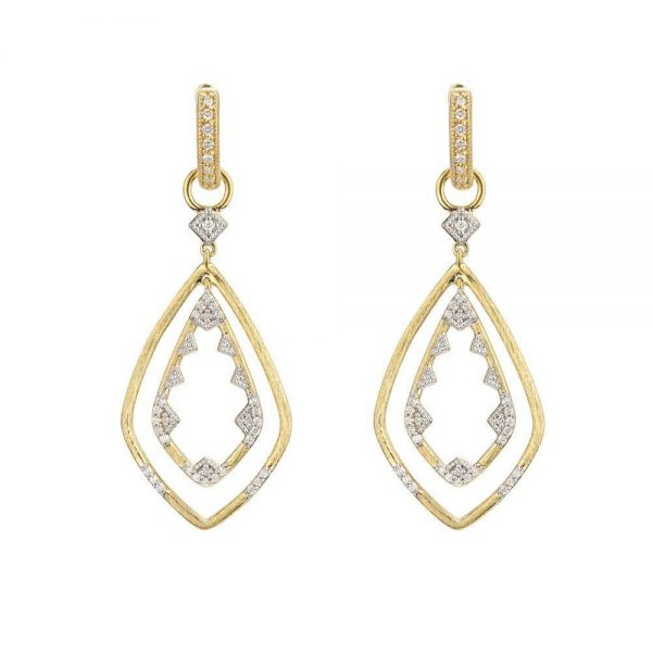Jude Frances Lisse Double Drop Open Kite Earring Charms
