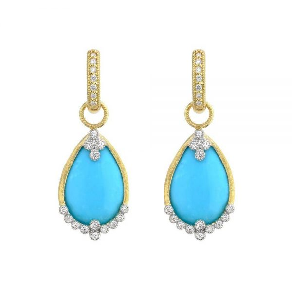 Jude Frances Provence Champagne Pear Stone Quad Earring Charms