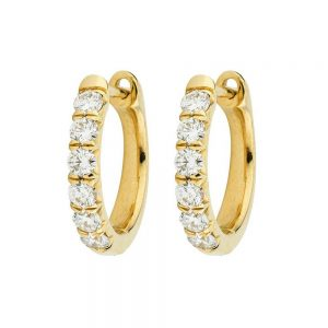 Jude Frances Jude Diamond Hoop Earrings