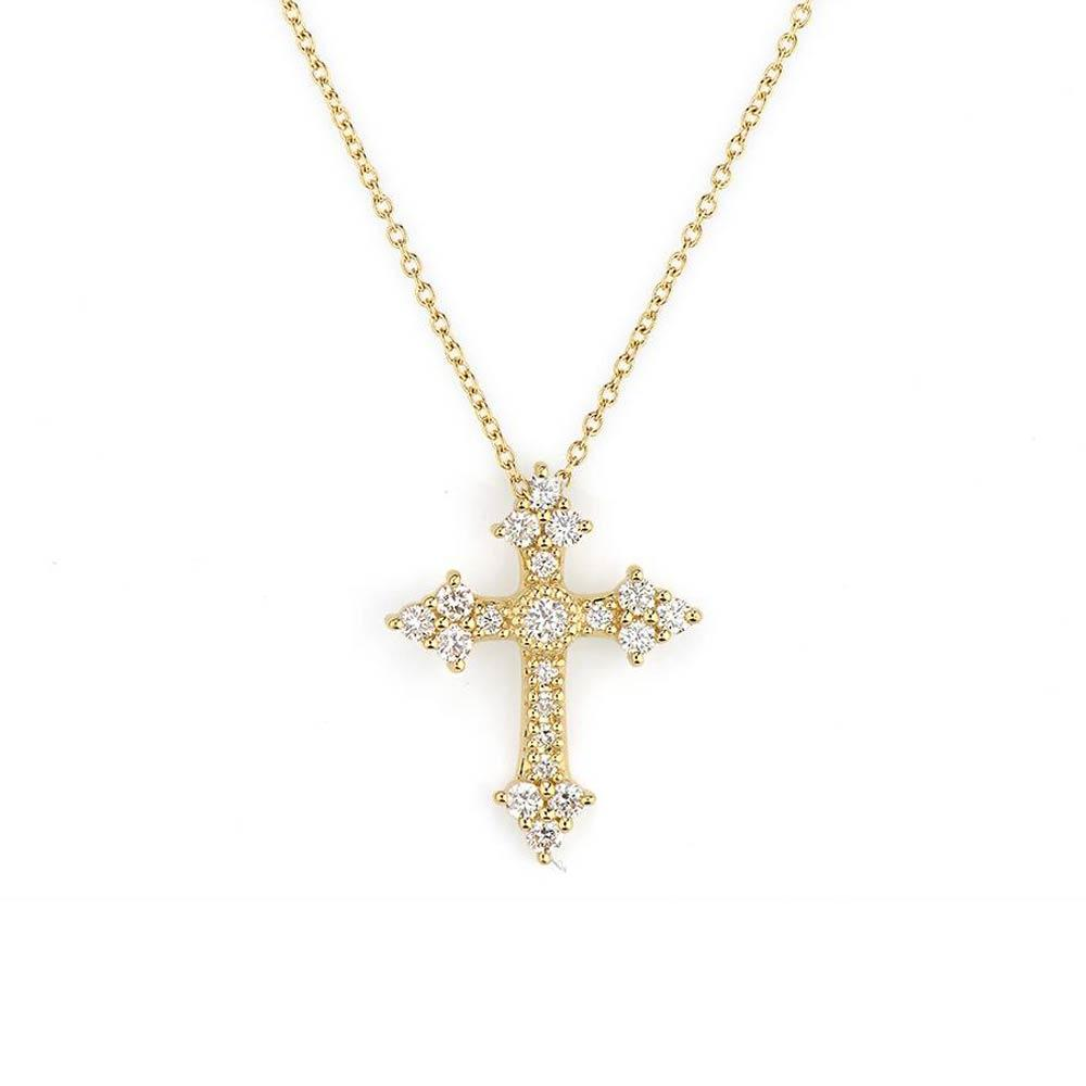 Jude Provence Champagne Small Cross Pendant