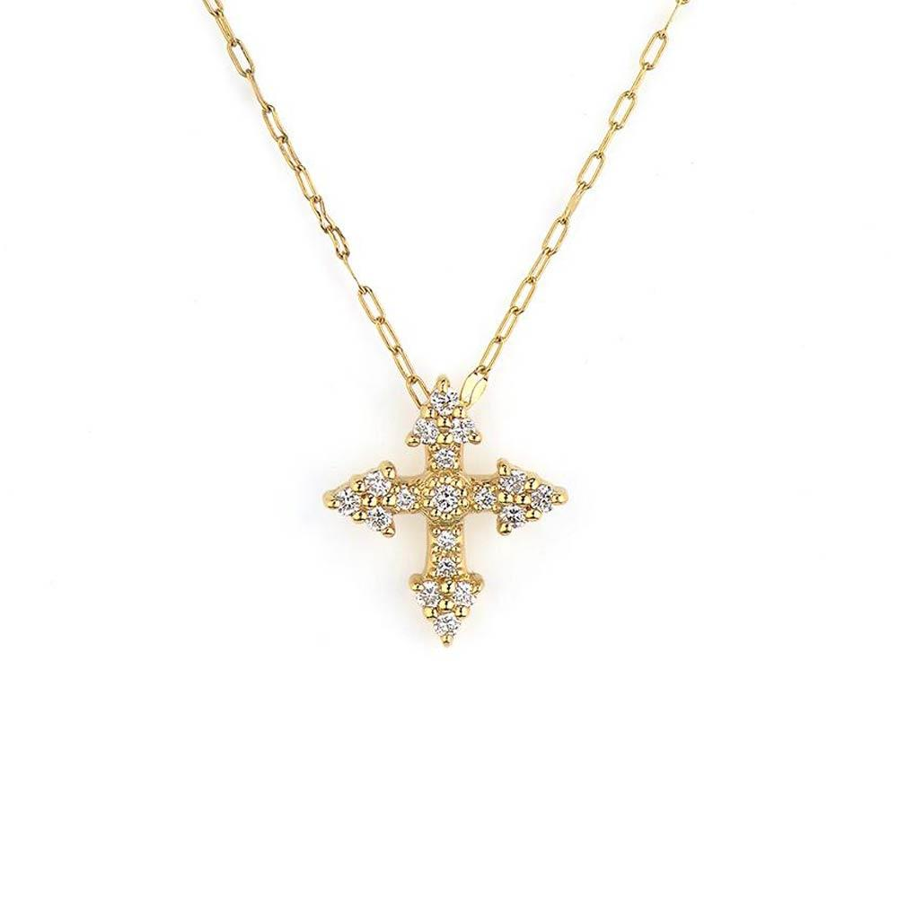 Jude Frances Provence Champagne Tiny Cross Pendant