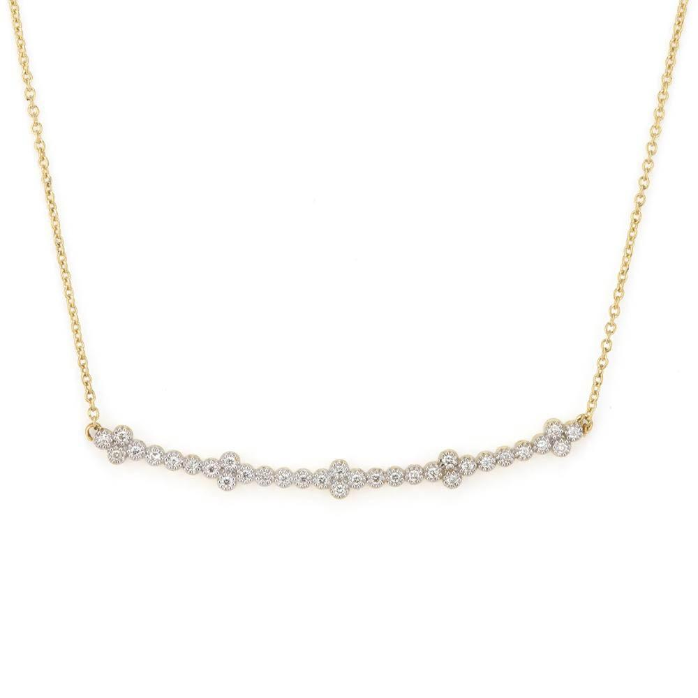 Jude Frances Small Provence Champagne Delicate Curved Bar Bezel Pendant