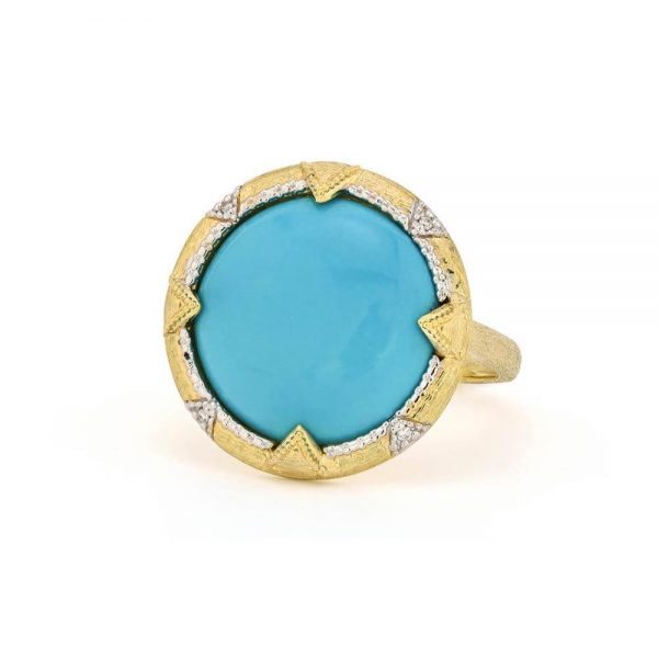 Jude Frances Medium Lisse Uptown Round Stone Bezel Ring