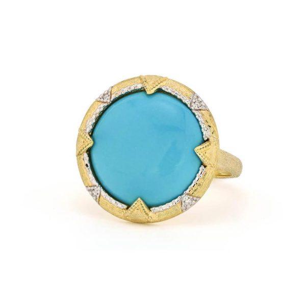 Jude Frances Medium Lisse Uptown Round Stone Bezel Ring