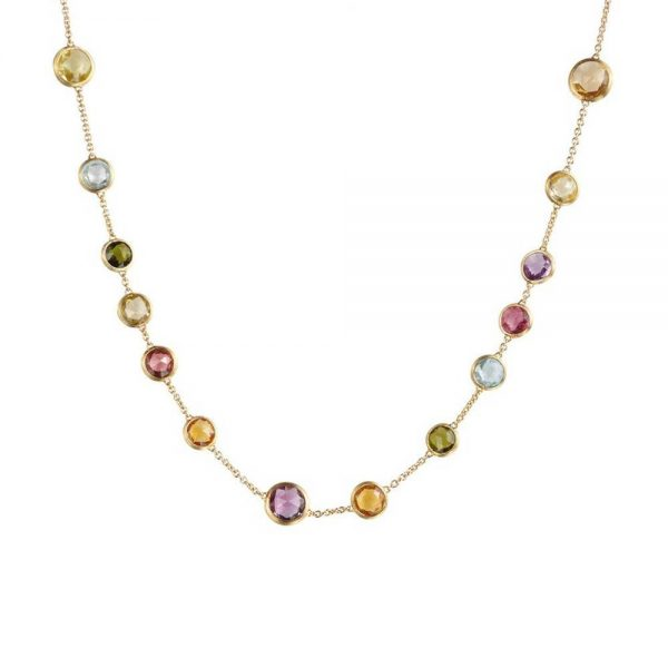 Marco Bicego 18K Yellow Gold & Mixed Gemstones Small Bead Necklace