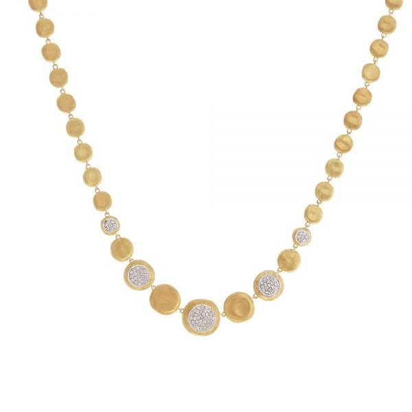 Marco Bicego 18K Yellow Gold Diamond Graduated Necklace