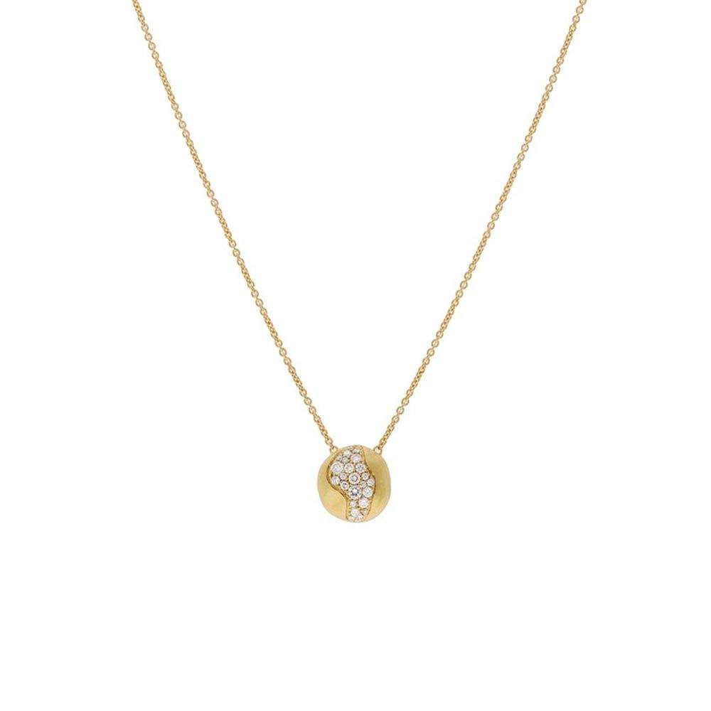 Marco Bicego 18K Yellow Gold and Diamond Medium Pendent Necklace
