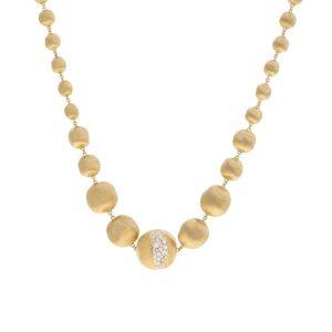 Marco Bicego 18K Yellow Gold Graduated Diamond Collar