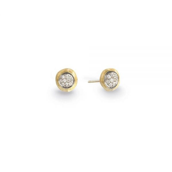 Marco Bicego 18K Yellow Gold & Diamond Pave Small Stud Earrings
