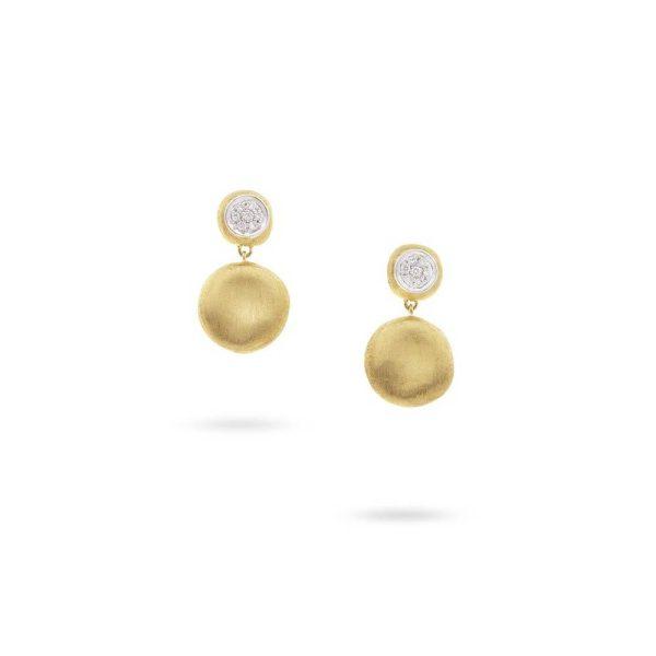 Marco Bicego 18K Yellow Gold Diamond Small Drop Earrings