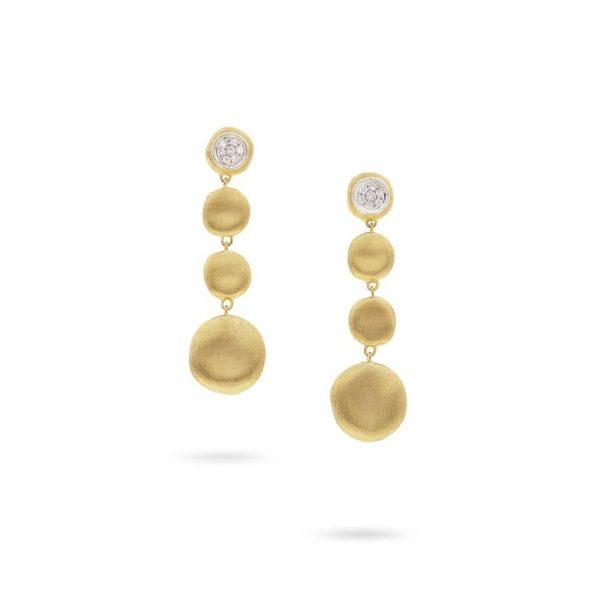 Marco Bicego 18K Yellow Gold Diamond Drop Earrings