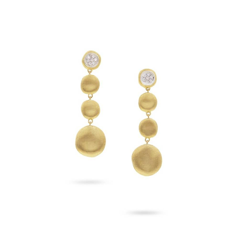 Marco Bicego 18K Yellow Gold Diamond Drop Earrings