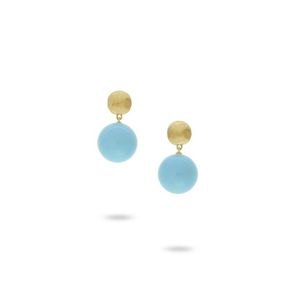 Marco Bicego 18K Yellow Gold and Turquoise Drop Earrings