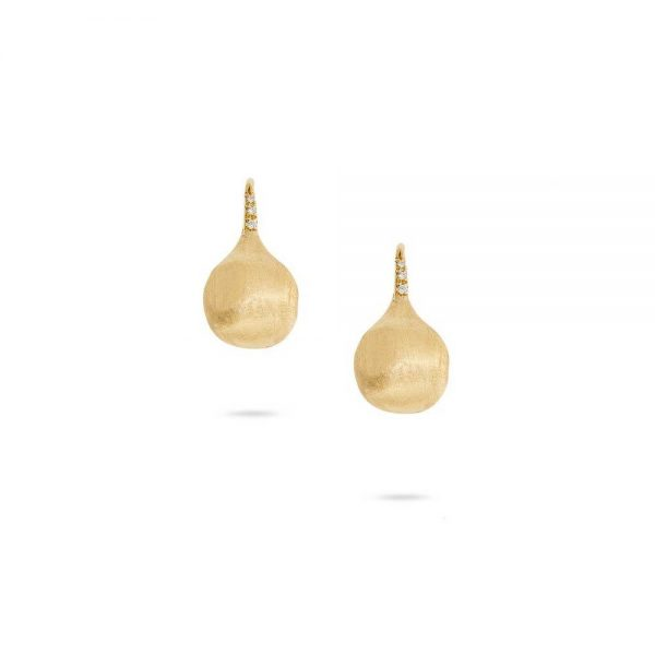 Marco Bicego 18K Yellow Gold and Diamond Medium French Wire Earrings