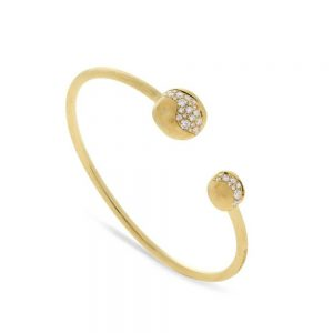 Marco Bicego 18K Yellow Gold Large Diamond Kissing Bangle