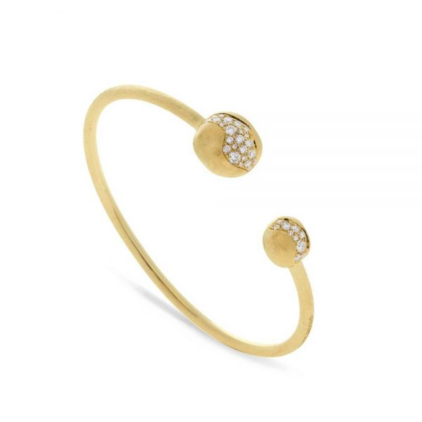 Marco Bicego 18K Yellow Gold Large Diamond Kissing Bangle