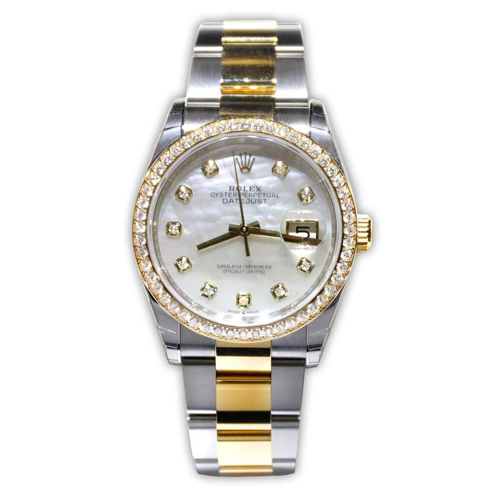 Rolex Oyster Perpetual Datejust With Diamond Bezel