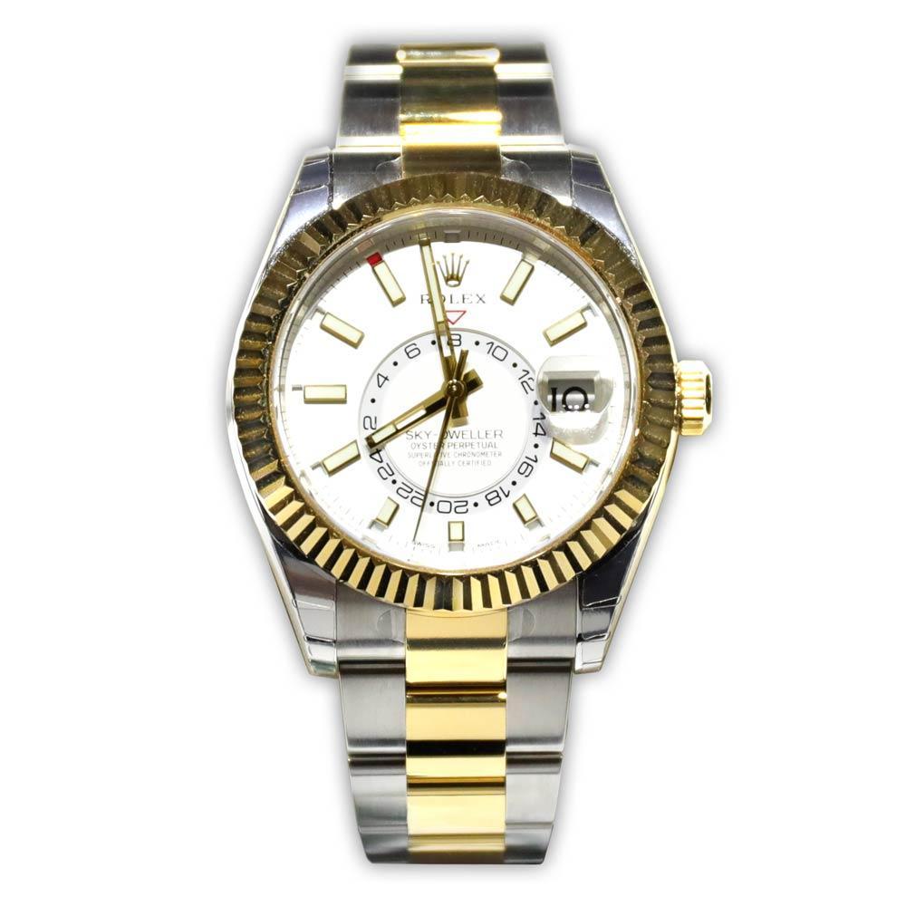 Rolex Oyster Perpetual Sky-Dweller Gold Bezel