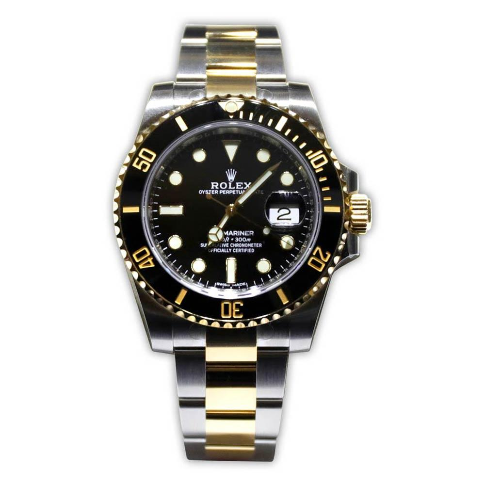 Rolex Submariner Black Dial With 18K Yellow Gold