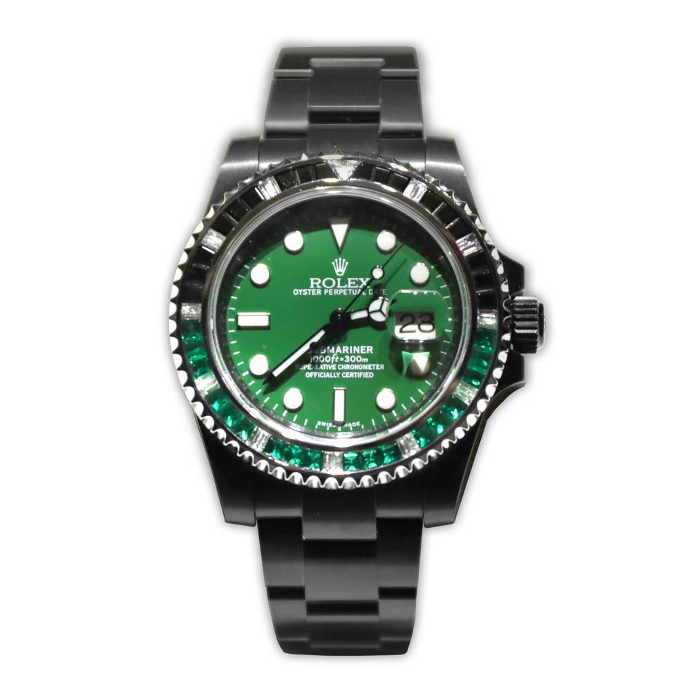 Rolex Submariner Green Dial With Emerald and Diamond Bezel