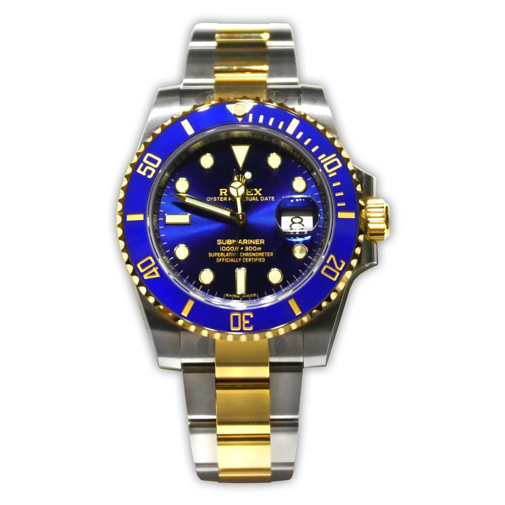 Rolex Submariner Blue Dial/Bezel With Yellow Gold