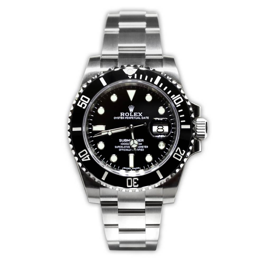 Rolex Stainless Steel Submariner Black Dial