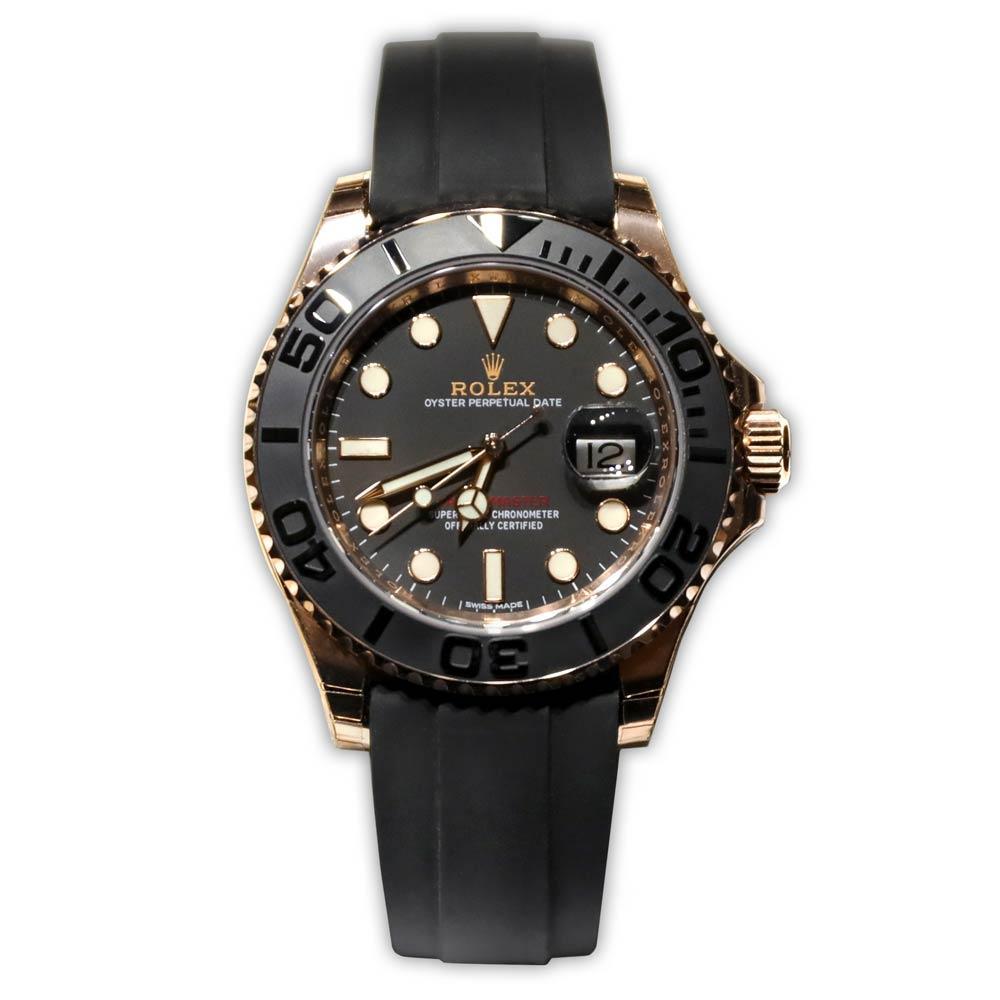 Rolex Yacht-Master Rose Gold Black Dial/Bezel