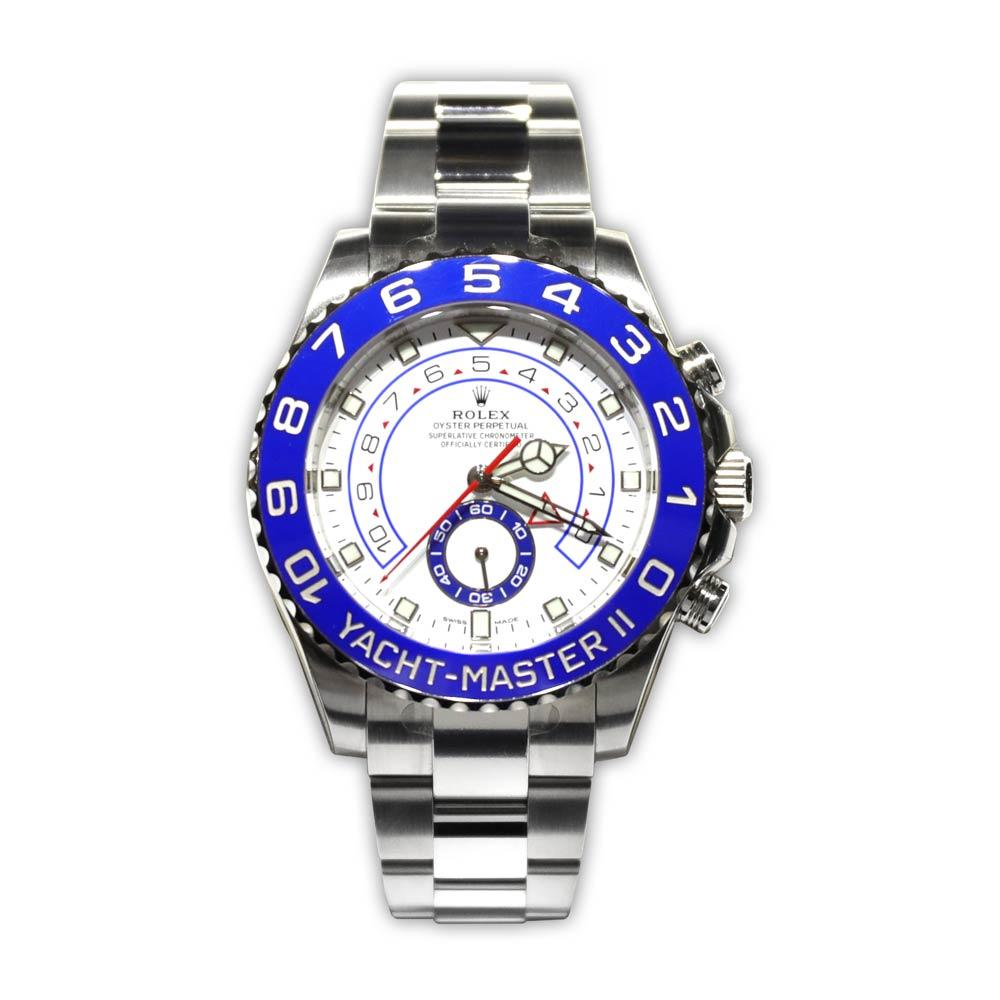 Rolex Yacht-Master II Steel With White Dial and Blue Bezel